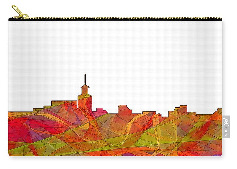 Santa Fe New Mexico Skyline Carry-all Pouch featuring the digital art Santa Fe New Mexico Skyline by Marlene Watson