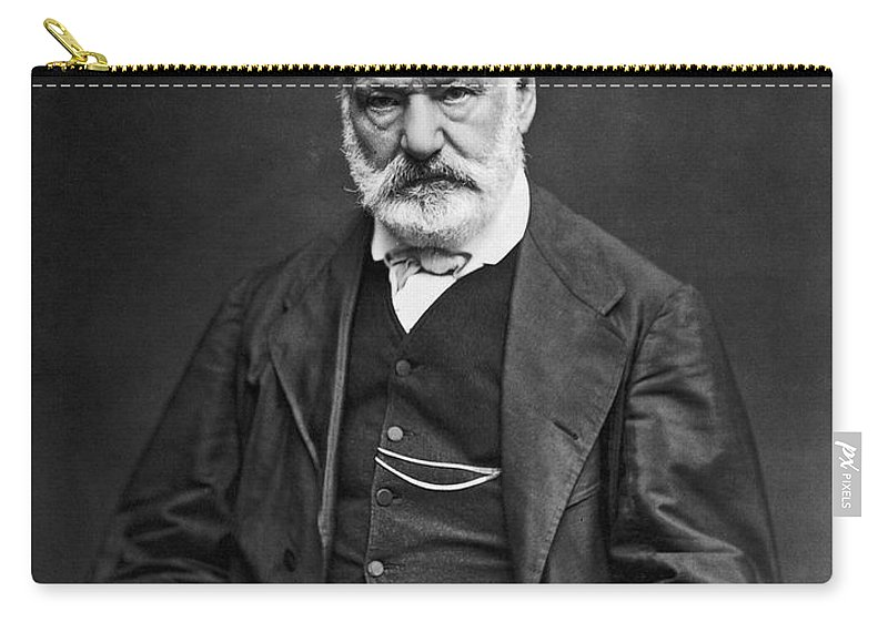 19th Century Carry-all Pouch featuring the photograph Victor Hugo (1802-1885) by Granger