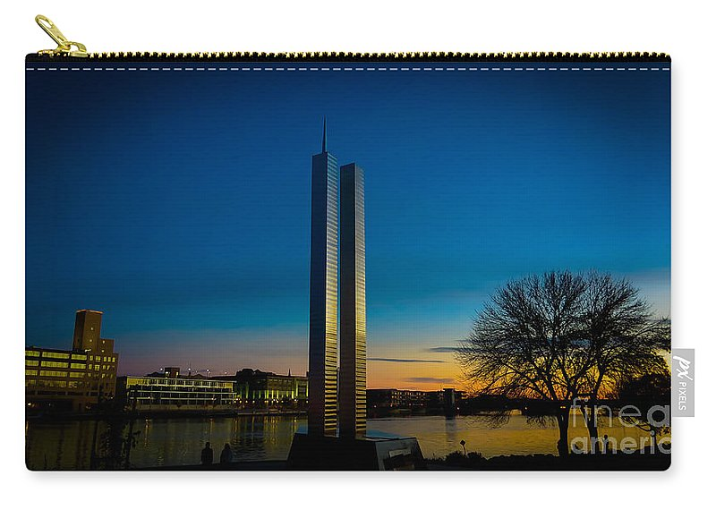 911 Memorial Carry-all Pouch featuring the photograph 911 Memorial Green Bay Wi by Stephanie Forrer-Harbridge