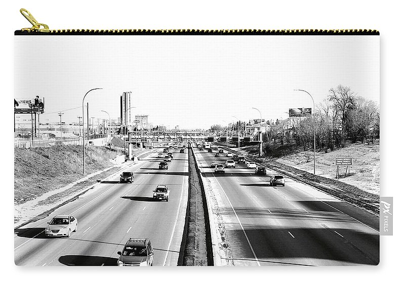 Freeways Carry-all Pouch featuring the photograph 94 by Julian Grant