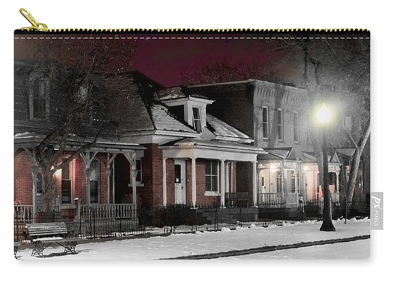 9th Carry-all Pouch featuring the photograph 9th St. Auraria by Jeffery Ball