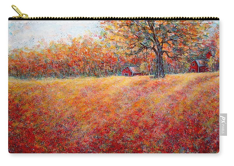 Autumn Landscape Carry-all Pouch featuring the painting A Beautiful Autumn Day by Natalie Holland