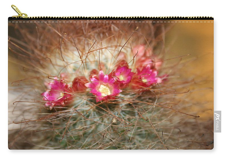 Flowers Nature Carry-all Pouch featuring the photograph A Beautiful Blur by Linda Sannuti