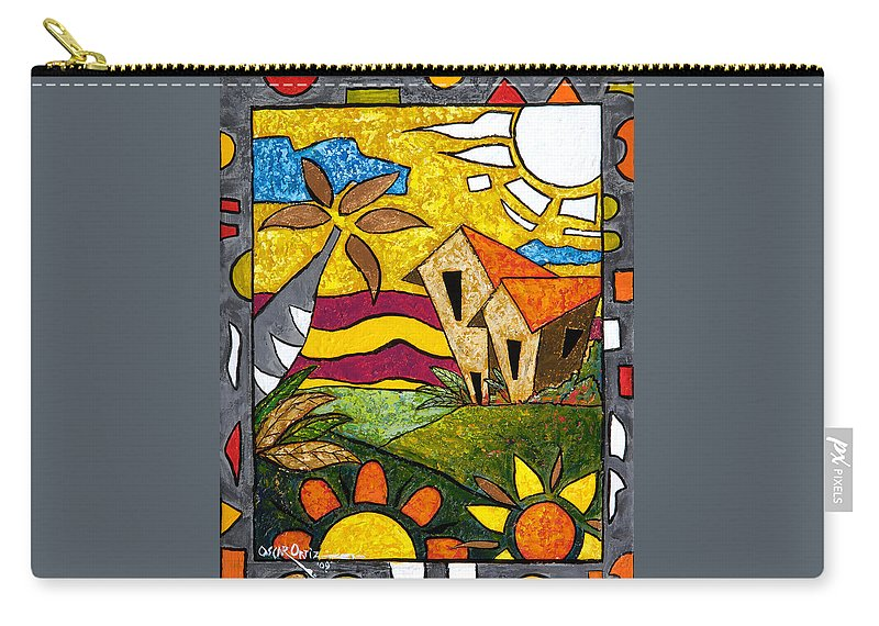 Puerto Rico Carry-all Pouch featuring the painting A Beautiful Day by Oscar Ortiz
