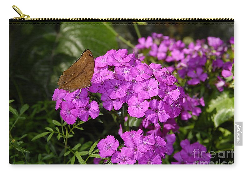 Butterfly Carry-all Pouch featuring the photograph A Beautiful Landing by David Lee Thompson