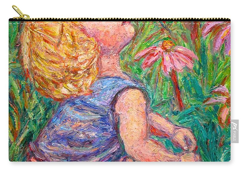 Child Carry-all Pouch featuring the painting A Beautiful Moment by Kendall Kessler