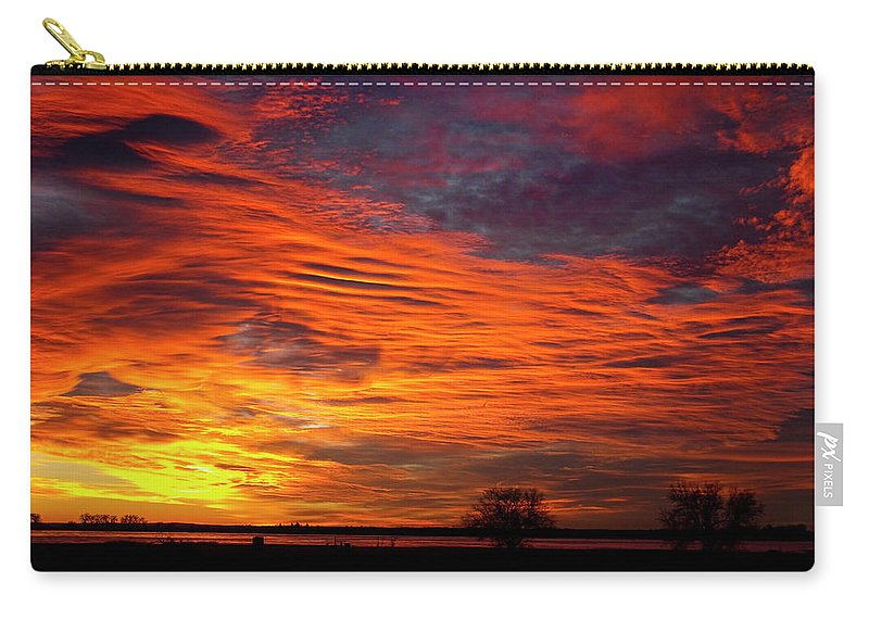 Sunsets Carry-all Pouch featuring the photograph A Beautiful Valentines Sunrise Image Photo by James BO Insogna