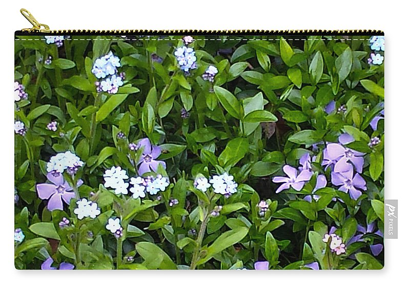 Creeping Myrtle Carry-all Pouch featuring the photograph A Bed Of Blooms by Jennifer Kohler