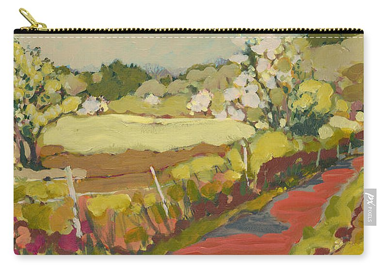 Landscape Carry-all Pouch featuring the painting A Bend in the Road by Jennifer Lommers