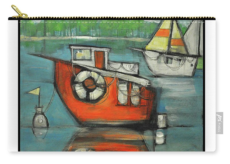 Boat Carry-all Pouch featuring the painting A Boaters Life Poster by Tim Nyberg