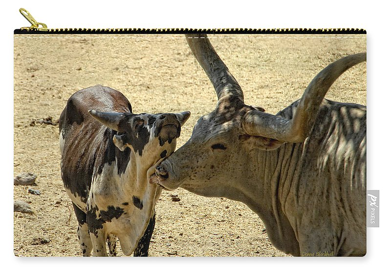 Cow Carry-all Pouch featuring the photograph A Bovine Love by Donna Blackhall