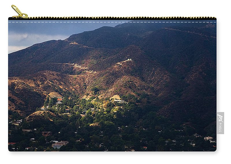 Clay Carry-all Pouch featuring the photograph A Break In The Clouds In Southern California by Clayton Bruster