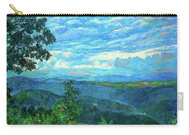 Mountains Carry-all Pouch featuring the painting A Break In The Clouds by Kendall Kessler