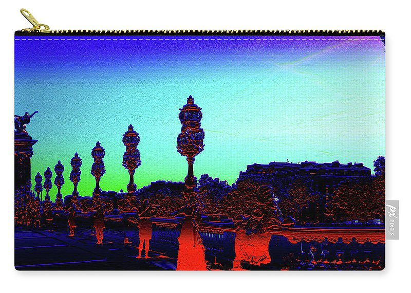 Bridge Carry-all Pouch featuring the digital art A Bridge Darkly 1 by Marc Dettloff