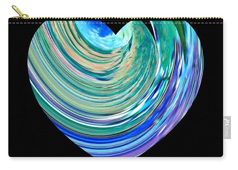 Broken Heart Carry-all Pouch featuring the digital art A Broken Heart by Will Borden