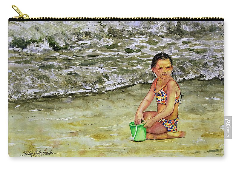 Sun Carry-all Pouch featuring the painting A Bucket Full Of Ocean by Shirley Sykes Bracken