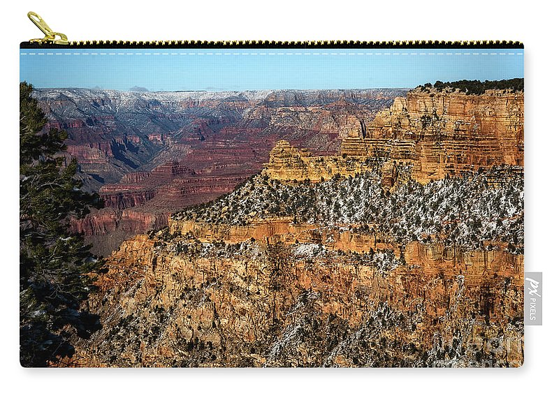 Grand Canyon Carry-all Pouch featuring the photograph A Canyon Winter by Susan Warren