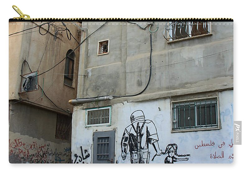 Refugee Camp Carry-all Pouch featuring the photograph A Child In Palestine by Munir Alawi
