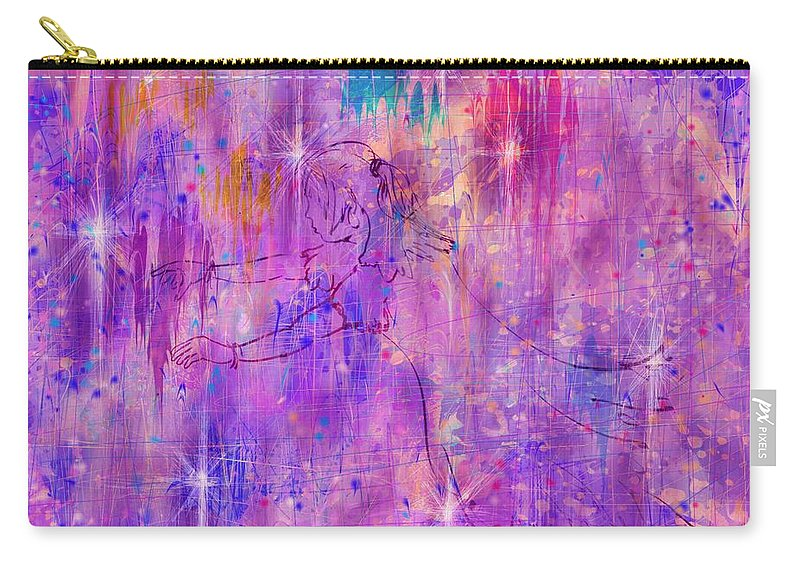 Abstract Carry-all Pouch featuring the digital art A Childhood Mystery by Rachel Christine Nowicki