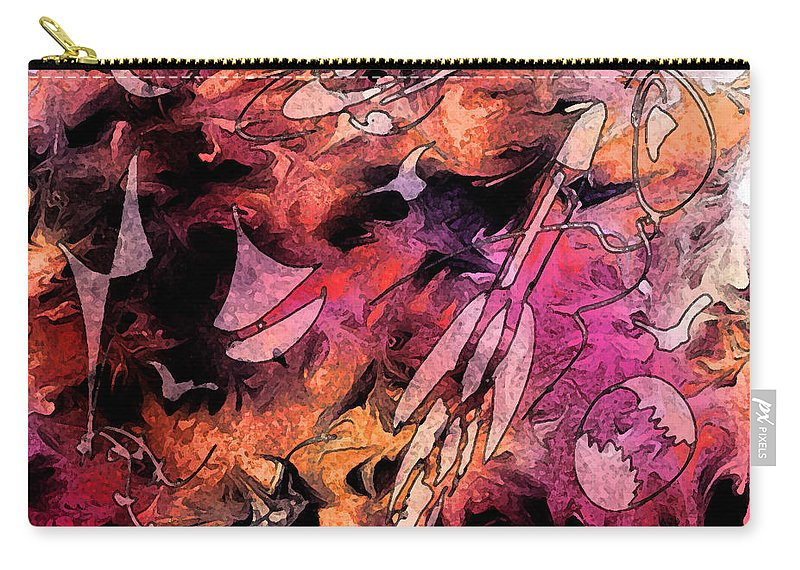 Abstract Carry-all Pouch featuring the digital art A Childhood by Rachel Christine Nowicki