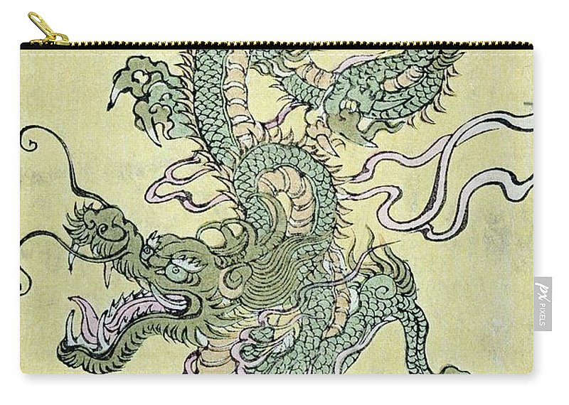 Dragon Carry-all Pouch featuring the painting A Chinese Dragon by Chinese School