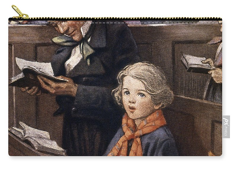 Aod Carry-all Pouch featuring the painting A Christmas Carol by Granger