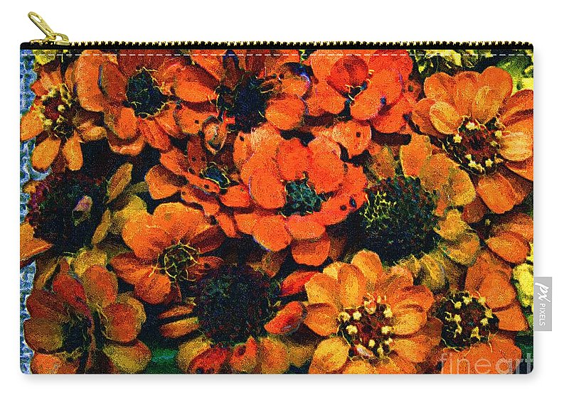 Flowers Carry-all Pouch featuring the painting A Collation Of Brilliance by RC deWinter