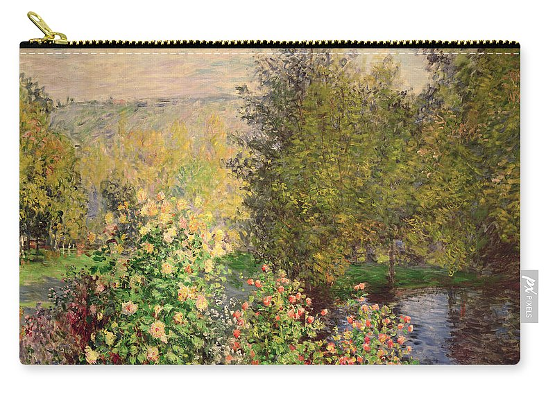 Corner Carry-all Pouch featuring the painting A Corner Of The Garden At Montgeron by Claude Monet