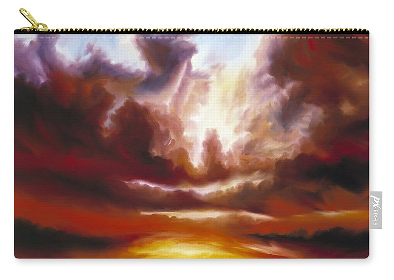 Tempest Carry-all Pouch featuring the painting A Cosmic Storm - Genesis V by James Christopher Hill