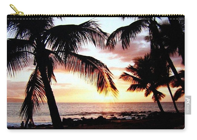 1986 Carry-all Pouch featuring the photograph A Couple On The Shore by Will Borden