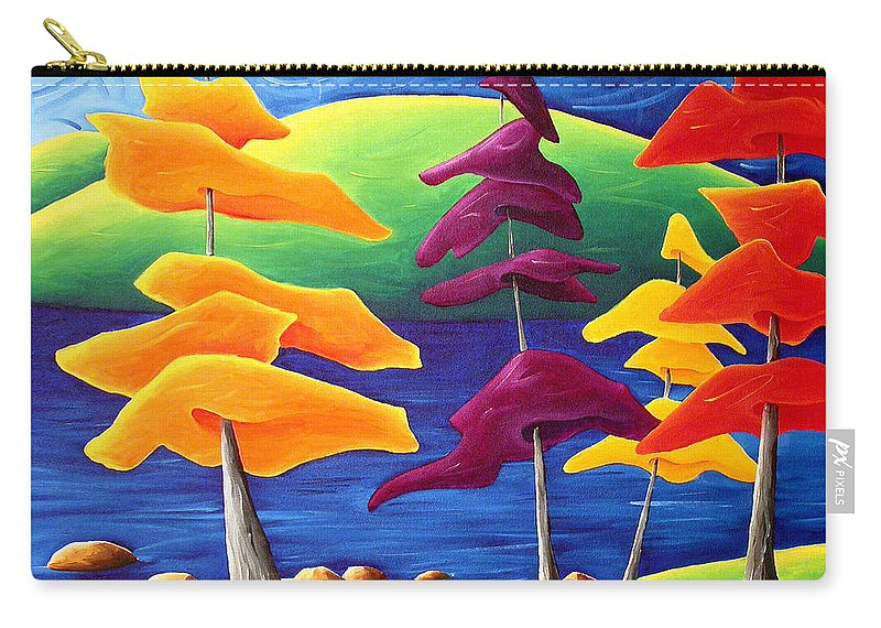 Landscape Carry-all Pouch featuring the painting A Crowd Gathers by Richard Hoedl