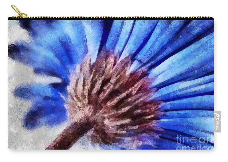 Daisy Carry-all Pouch featuring the photograph A Curious Mind by Krissy Katsimbras