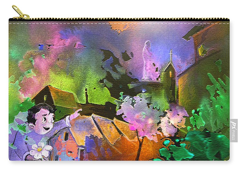 Dream Carry-all Pouch featuring the painting A Daisy For Mary by Miki De Goodaboom