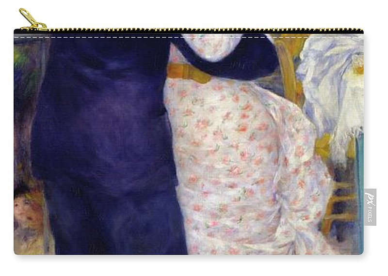 Dance Carry-all Pouch featuring the painting A Dance In The Country by Pierre Auguste Renoir