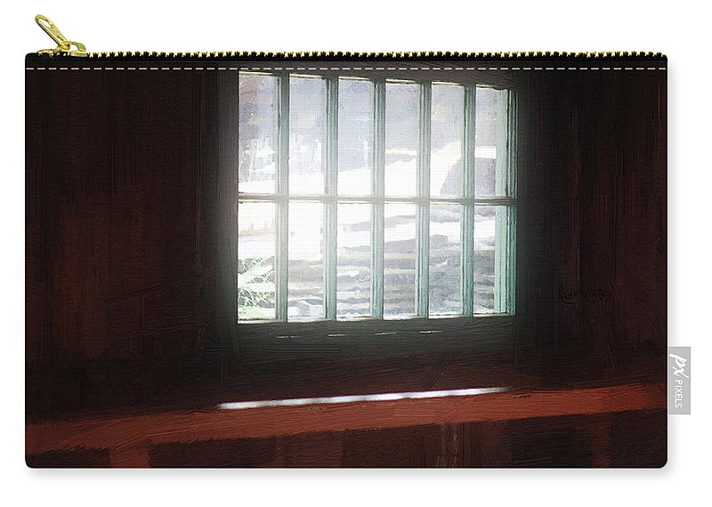 Window Carry-all Pouch featuring the painting A Dark And Fearsome Place by RC deWinter