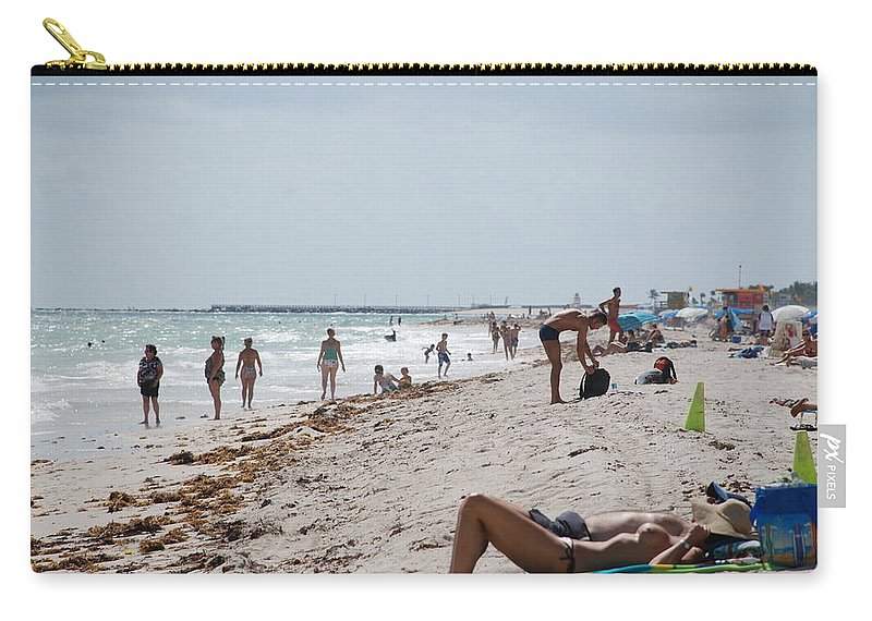 Nude Carry-all Pouch featuring the photograph A Day At Paradise Beach by Rob Hans
