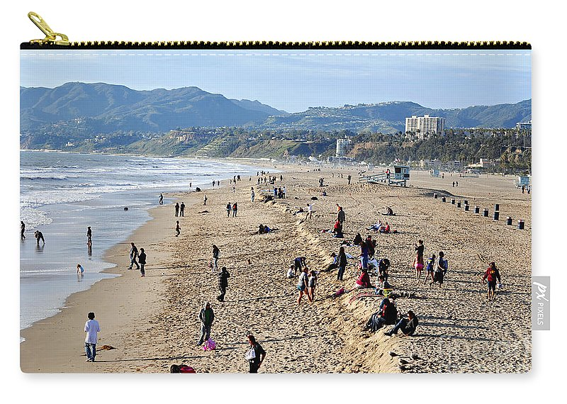Clay Carry-all Pouch featuring the photograph A Day At The Beach in Santa Monica by Clayton Bruster