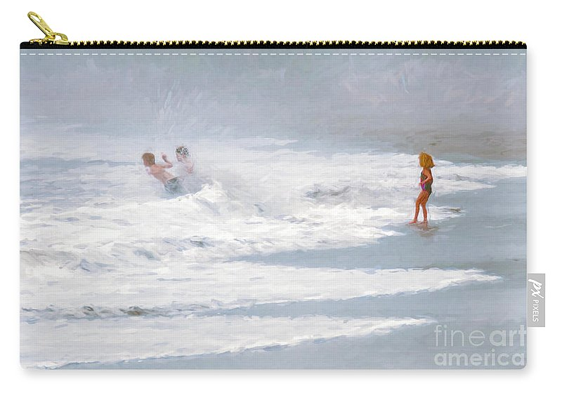 Children Carry-all Pouch featuring the photograph A Day At The Beach by Sharon Seaward