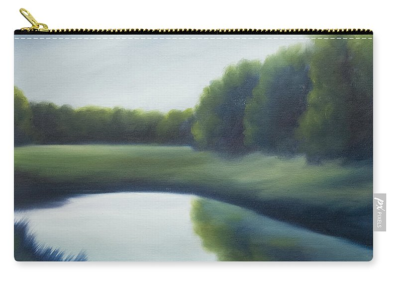 Clouds Carry-all Pouch featuring the painting A Day In The Life 2 by James Christopher Hill