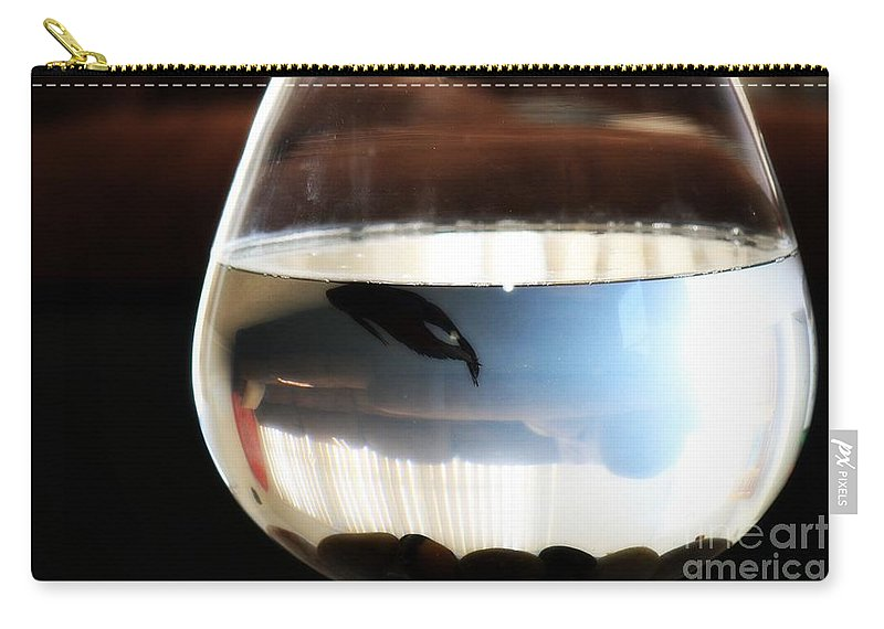 Pet Fish Carry-all Pouch featuring the photograph A Day In The Life... by Mandy Shupp