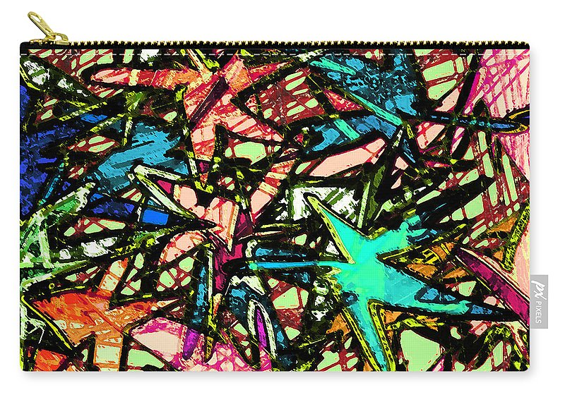 Abstract Carry-all Pouch featuring the digital art A Dream Shattered by Rachel Christine Nowicki
