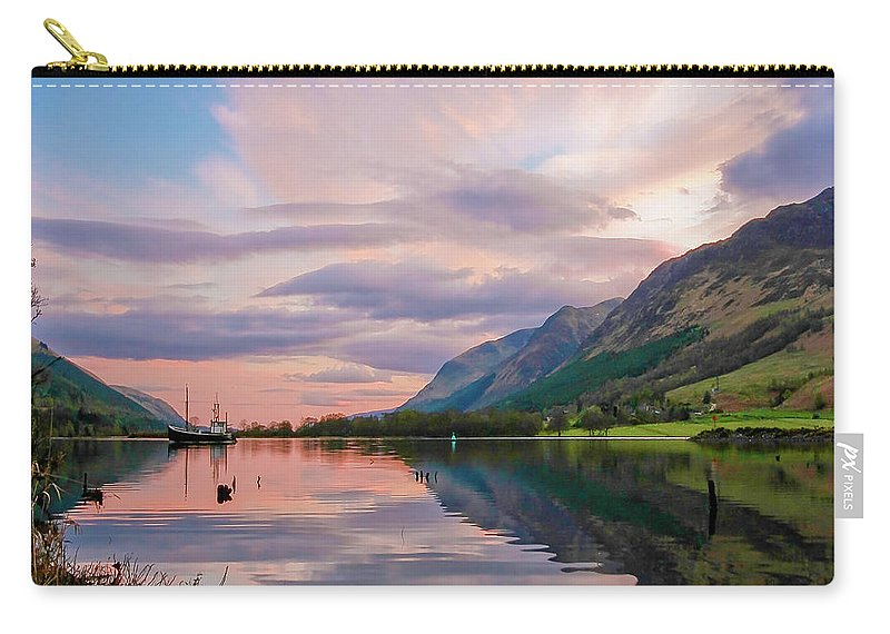 Scotland Carry-all Pouch featuring the photograph A Dreams Reflection by Martina Schneeberg-Chrisien