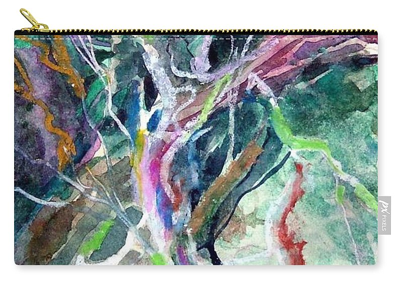 Tree Carry-all Pouch featuring the painting A Dying Tree by Mindy Newman