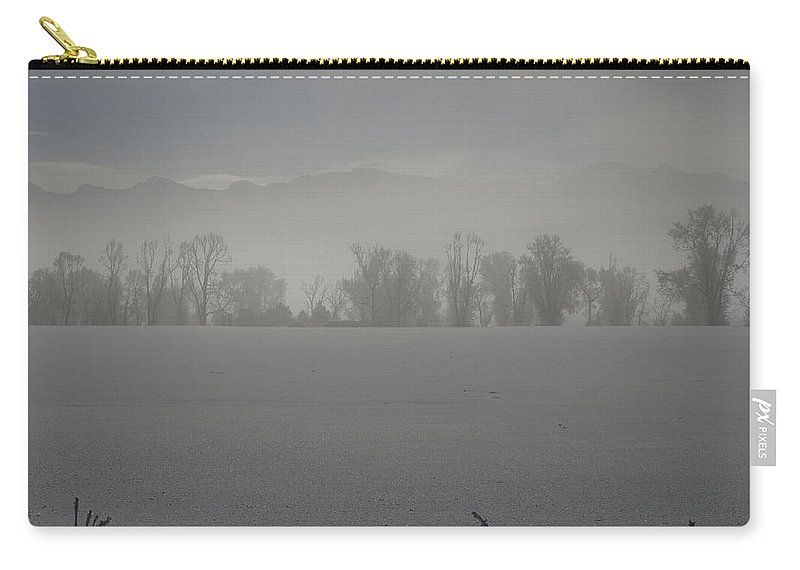 Fog Carry-all Pouch featuring the photograph A Early Frosty Morn by DeeLon Merritt