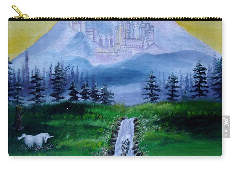 Landscape Carry-all Pouch featuring the painting A Fairytale by Glory Fraulein Wolfe