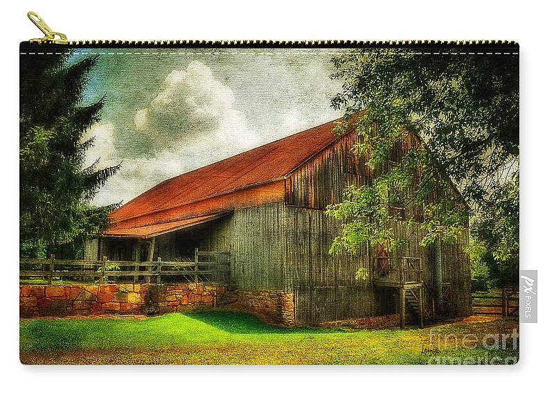 Barn Carry-all Pouch featuring the photograph A Farm-picture by Lois Bryan