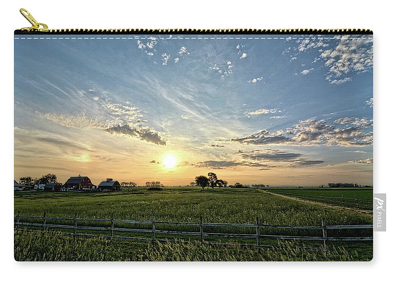 Sunrise Carry-all Pouch featuring the photograph A Farmers Morning by Bonfire Photography