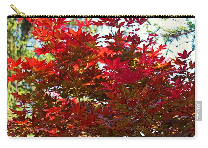 Tree Carry-all Pouch featuring the photograph A Fiery Breeze by Michiale Schneider