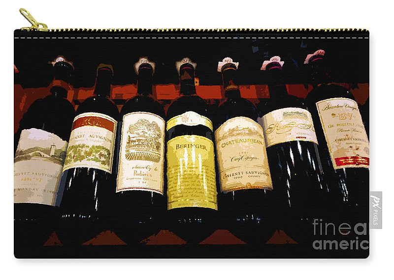 Wine Carry-all Pouch featuring the painting A Fine Selection by David Lee Thompson