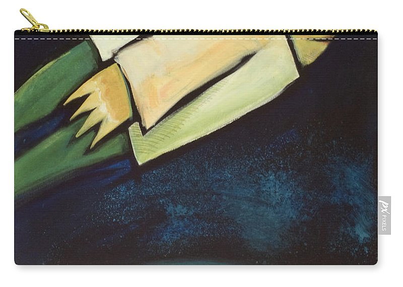 Universe Carry-all Pouch featuring the painting A Finger Two Dots Then Me by Tim Nyberg